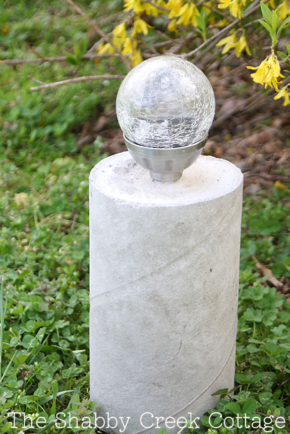 DIY pillar solar light