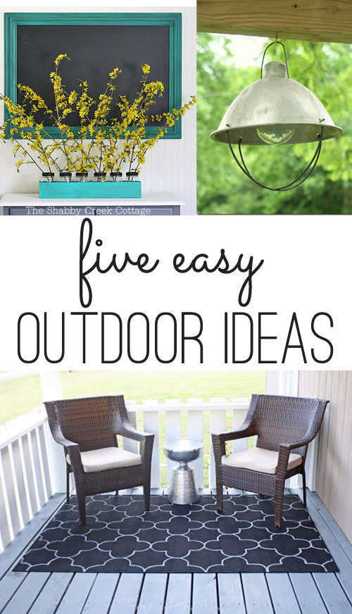 five easy outdoor diy ideas