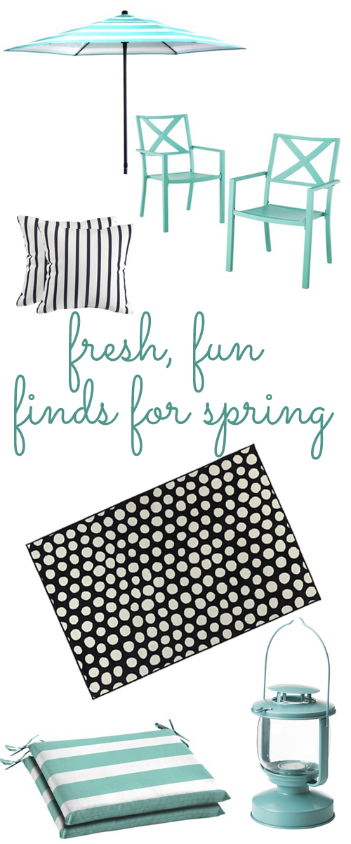 Fun (and budget friendly) finds for spring outdoor decorating