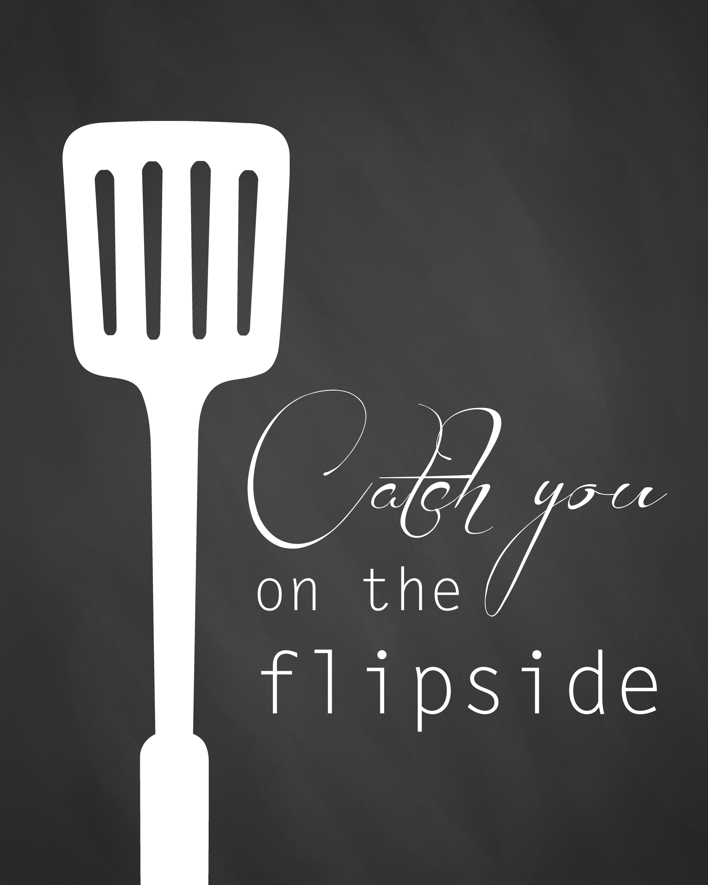Printable kitchen art - Flipside Kitchen Printable