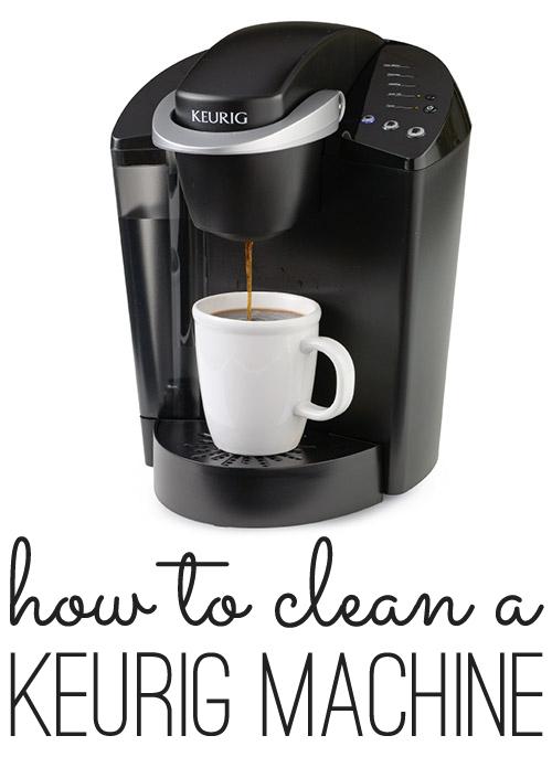 how to clean a keurig machine
