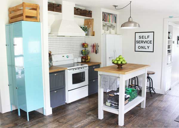 Small kitchen makeover in a mobile home for Kitchen makeover ideas
