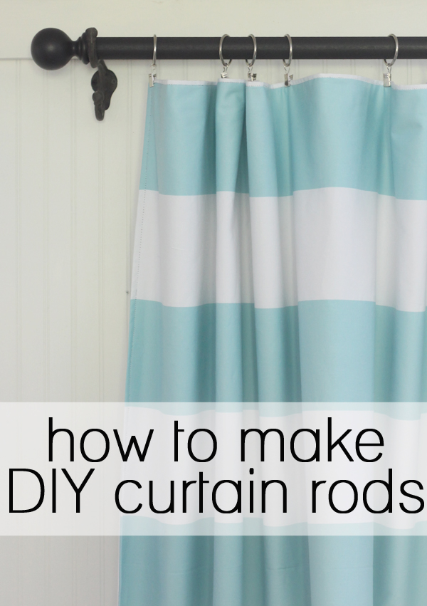 How to make your own curtain rod for Curtain making service