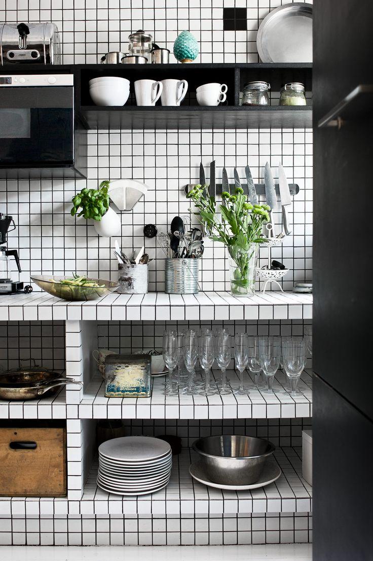 black and white kitchen tiles best black white