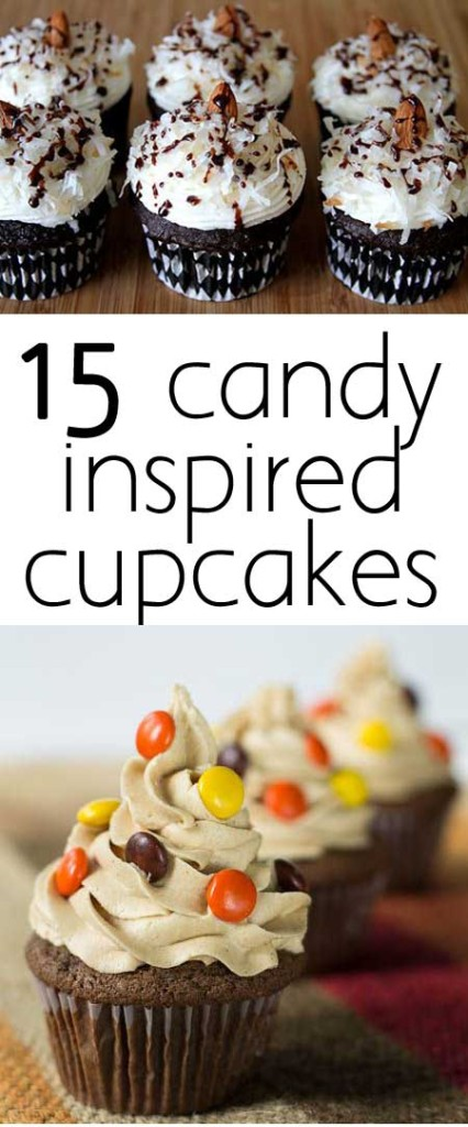 candy inspired cupcakes