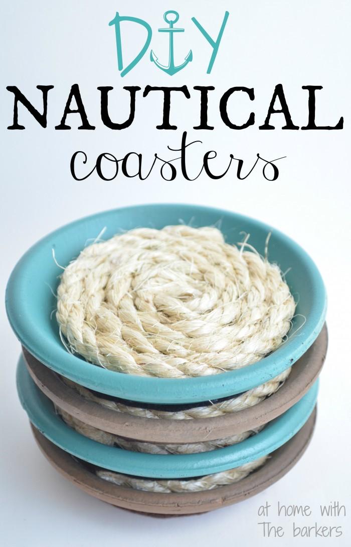 make this: DIY nautical coasters