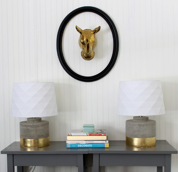 how to gold leaf: a lamp makeover