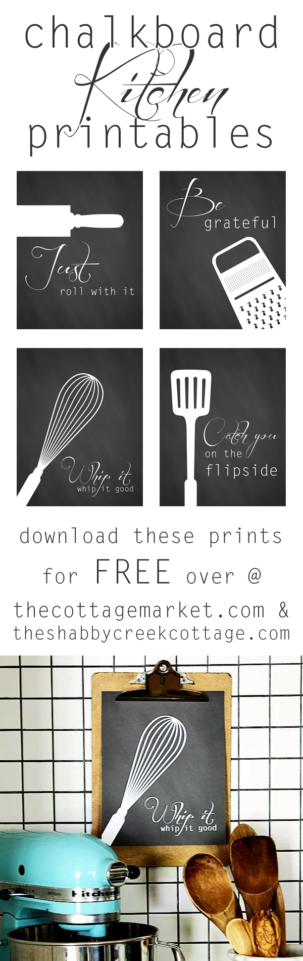 photograph about Free Printable Kitchen Art titled Free of charge kitchen area artwork printables - a established of 4