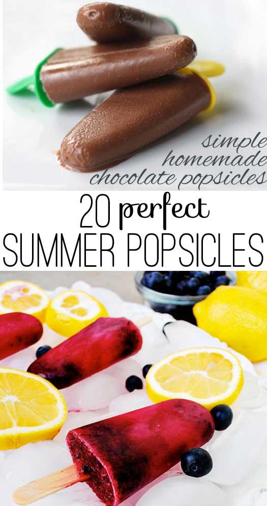 20 summer popsicles