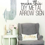 DIY metal arrow sign