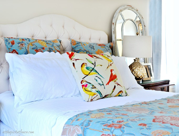 blue and white master bedroom 8