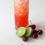 coconut cherry limeade cocktail