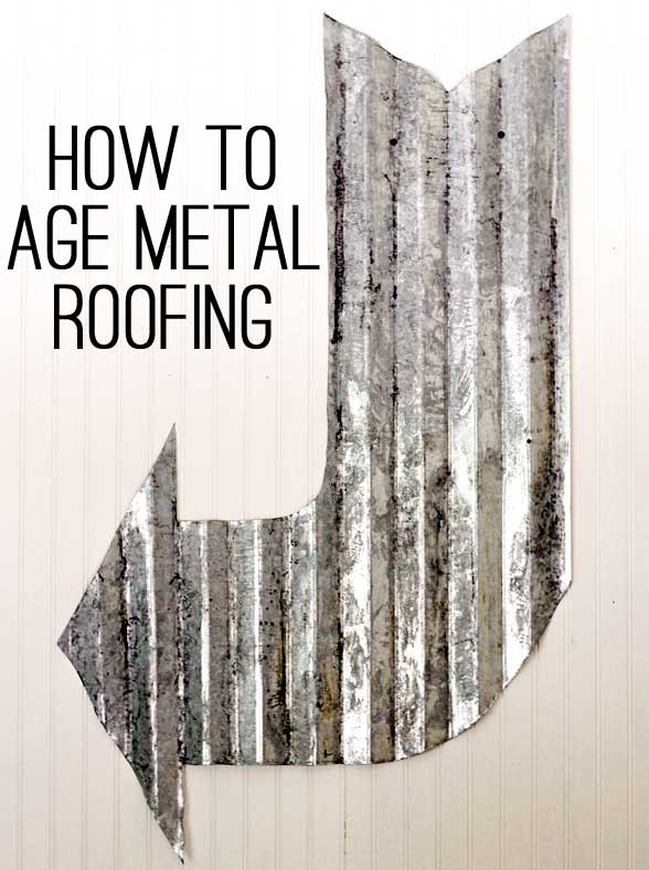 How to age roofing metal
