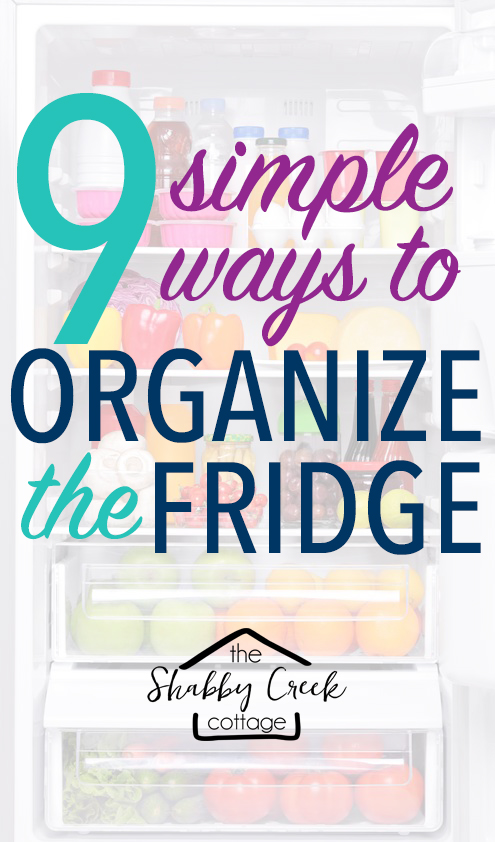 Simple tips to organizing a refrigerator to save money and make life easier!