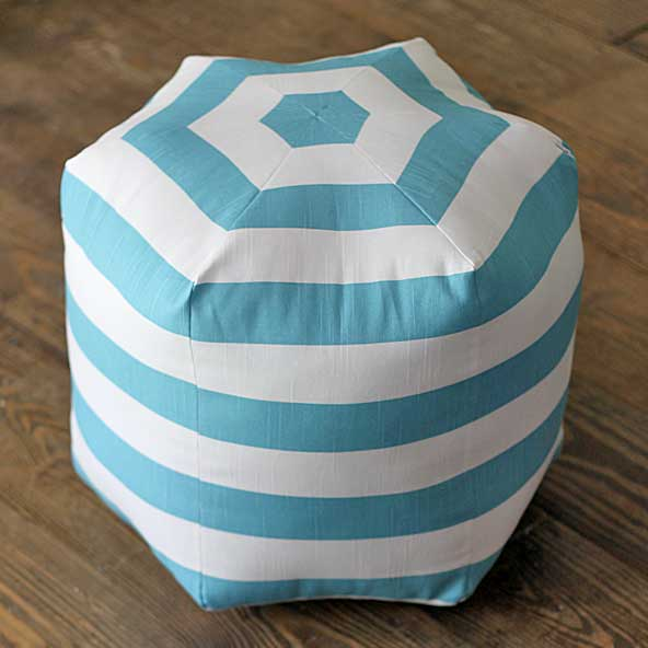 DIY floor pouf tutorial