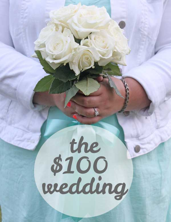 the $100 wedding