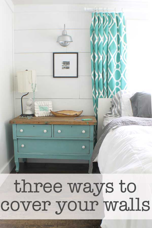 three ways to cover walls