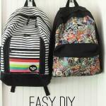 easy DIY back pack hooks