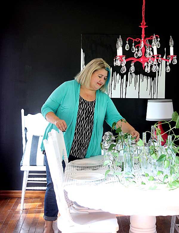 dining room makeover by Gina Luker
