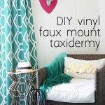 DIY vinyle faux mount taxidermy