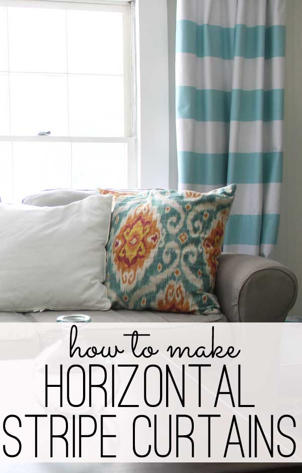 How To Make Horizontal Striped Curtains