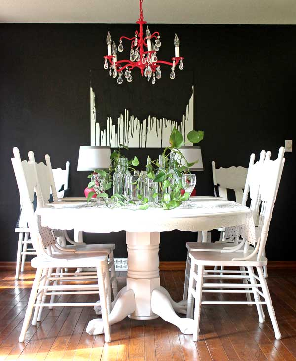Dining Room Makeover: Make This: Easy DIY Paint Drip Wall Art