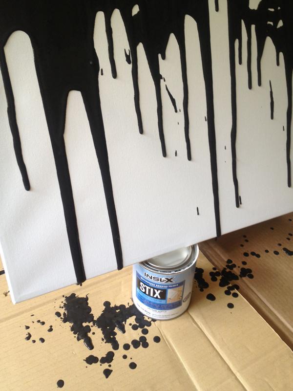 DIY paint drip art