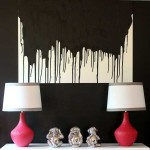 paint drip wall art