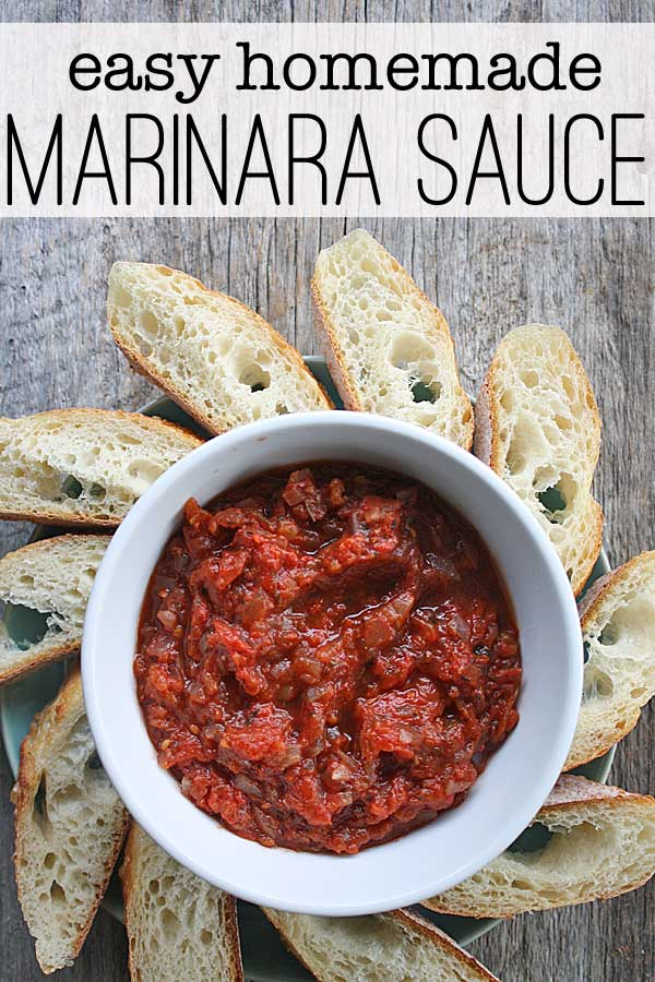 Me personally? I just want to slather the homemade marinara sauce on a ...