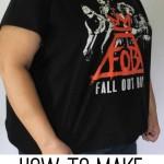 how to make a t-shirt bigger