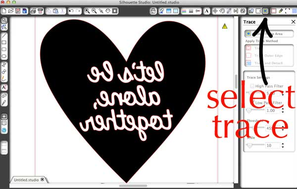 how to cut graphic in Silhouette software