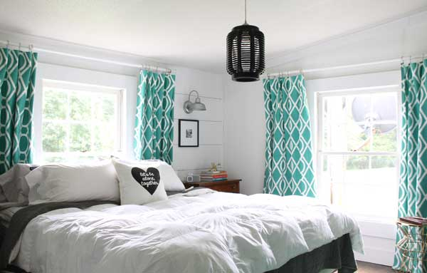 Quirky Modern Farmhouse Style Master Bedroom: modern chic master bedroom