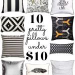 pillows under $10