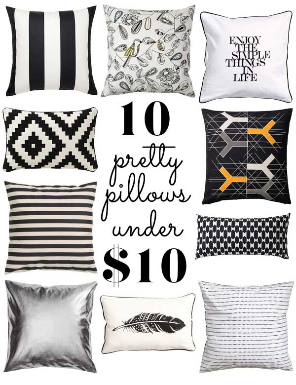 10 pretty pillows under $10