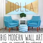 big wall art diy