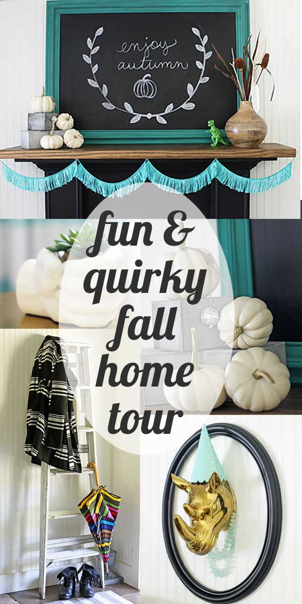 fun home tour with some great fall decorating ideas for a light touch of autumn