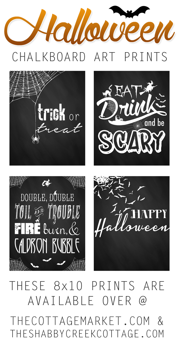 printable Halloween art set