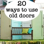 20 ideas using old doors