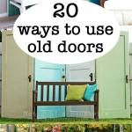 20 ideas using old doors