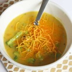 Broccoli Cheddar Soup - a 15 minute meal using pantry & freezer ingredients