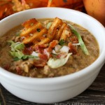 Delicious Slow Cooker Bacon Cheeseburger Soup PM2