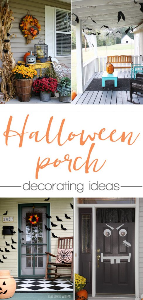 Tons of great ideas here in this collection of Halloween Porch Decorating Ideas!