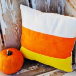 candy corn pillow - CUTE!