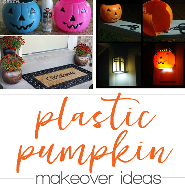 Plastic pumpkin bucket makeover ideas