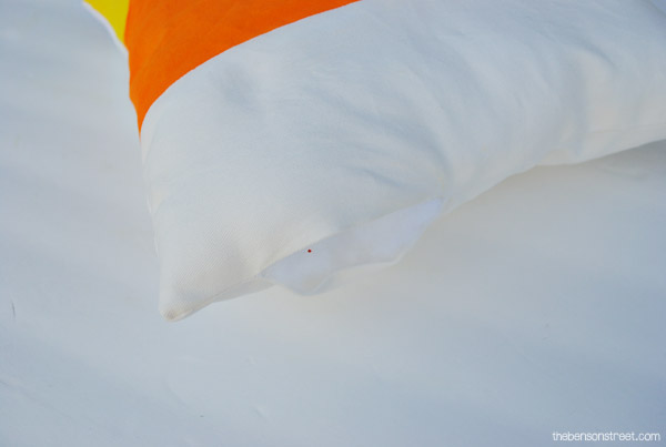 Fun and Easy Halloween Craft- Candy Corn Outdoor Pillow