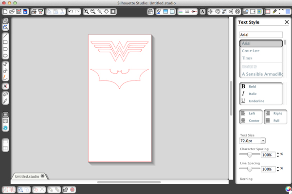 DIY superhero logo