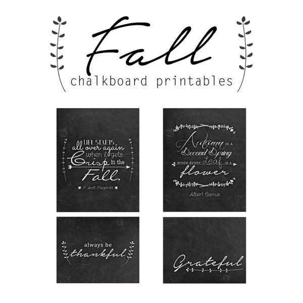 free fall chalkboard printables