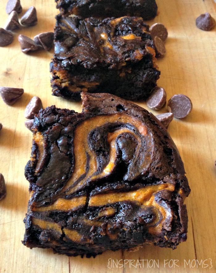 The Best Brownies EVER! Pumpkins Swirl brownies.