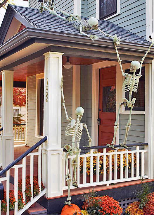 Fall Halloween Front Porch Ideas