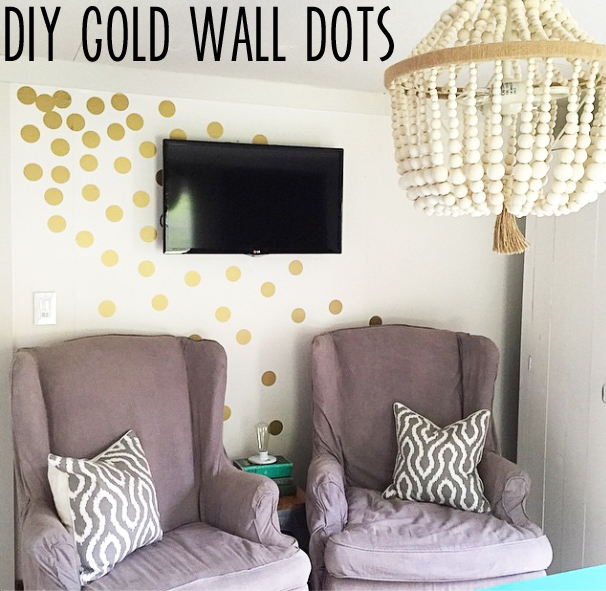 DIY gold wall dots
